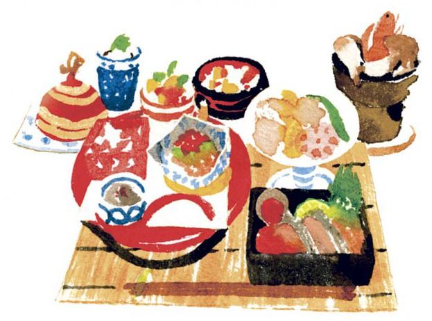 ランチ会席は前菜・おつくり・焼物など全8品で2,160円(要予約)