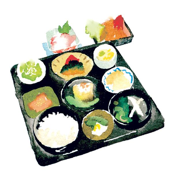 1日10食限定の「奥球磨の恵み」は1,500円。彩り豊かな料理が並ぶ。15種類以上の野菜を使用