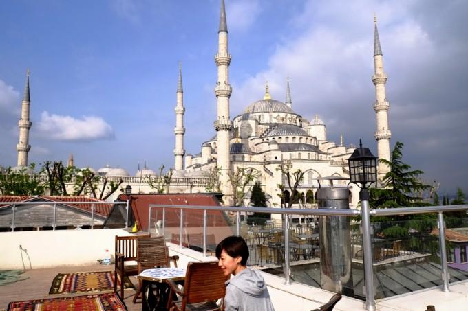 なんとモスクが目の前!