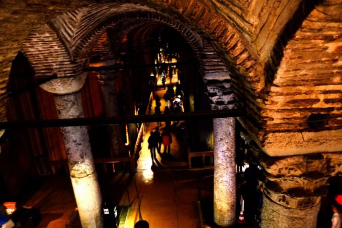イスタンブールにある東ローマ帝国の大貯水槽