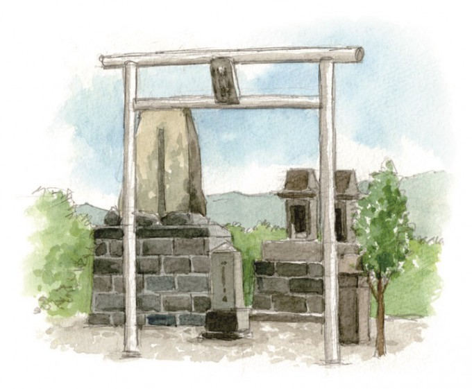 是枝柳右衛門 頌徳碑