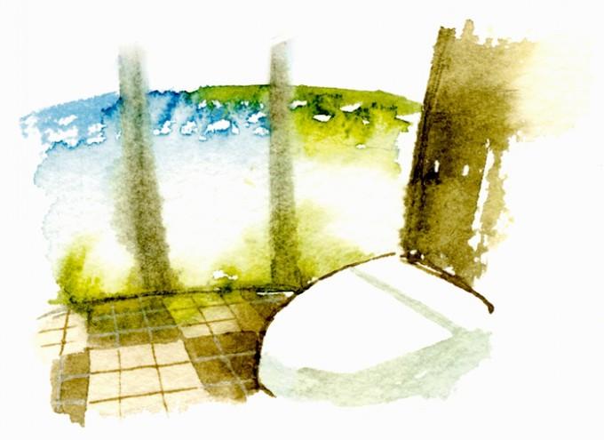 針尾公園の「空中展望トイレ」