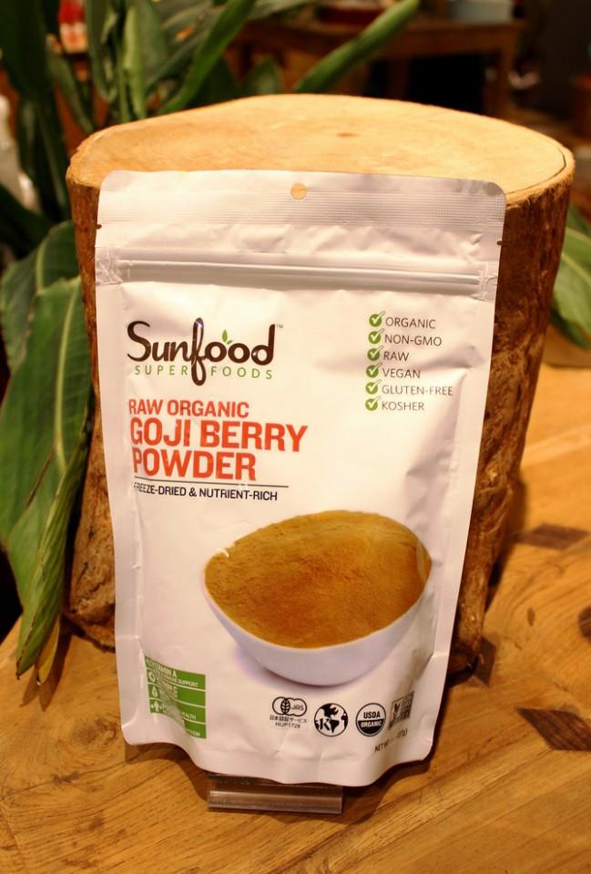 Sunfood SUPERFOODS オーガニックゴジベリーパウダー