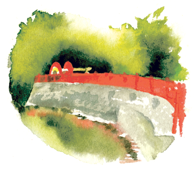 照島神社へ渡る橋
