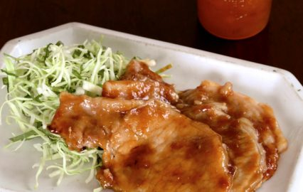 門倉多仁亜の南高梅ジャムでさっぱり 豚肉のしょうが焼き