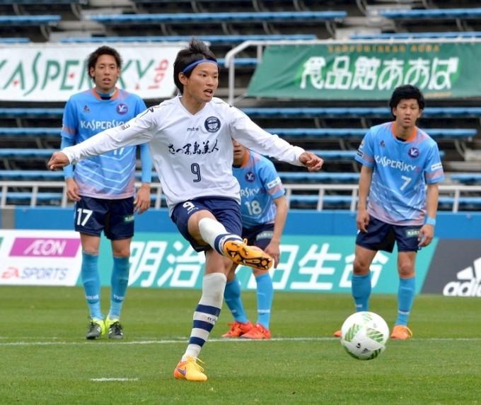 鹿児島ユナイテッドFC 藤本 憲明選手 4月3日のJリーグ初得点シーン
