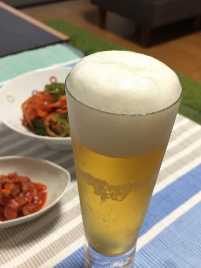 ライター鯱宅での自宅ビール