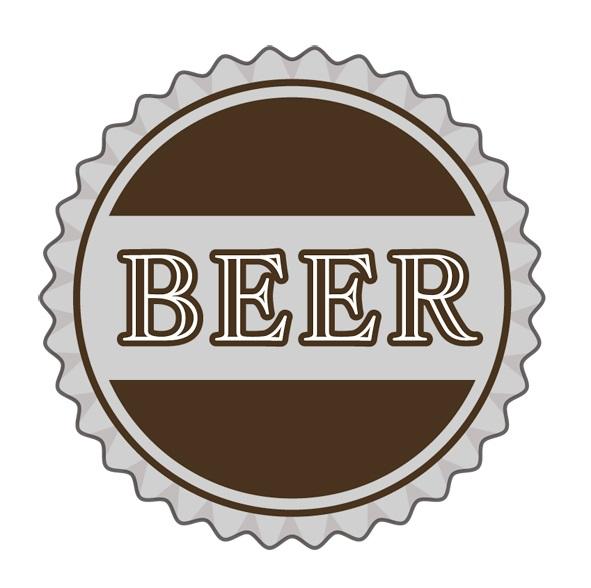 ビール王冠イラスト