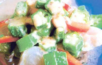 古い記事: オクラとカンパチのゴマドレサラダ | かごしま旬野菜レシピ