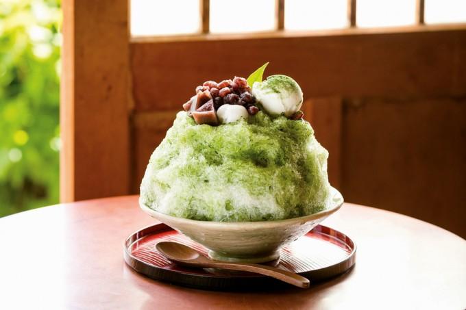 岩屋公園cafe サクラノヤカタの「お抹茶氷」(大)