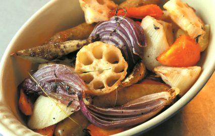 レンコンと根菜のロースト