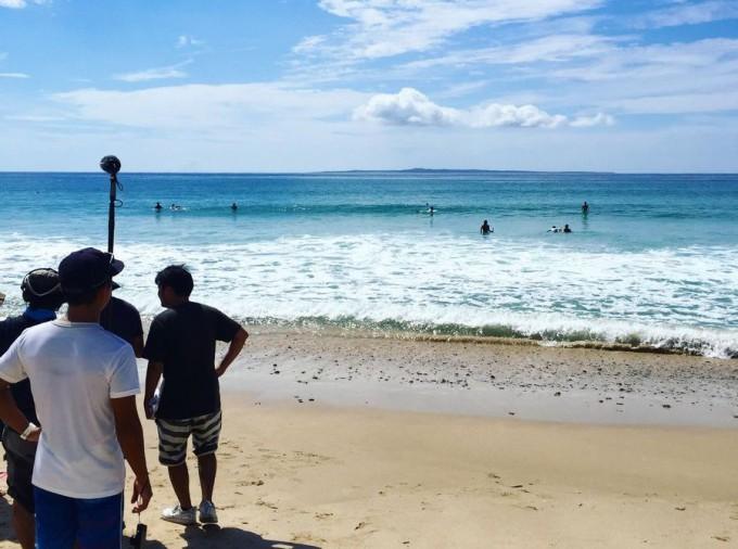 ロケ撮影でも海に行きました
