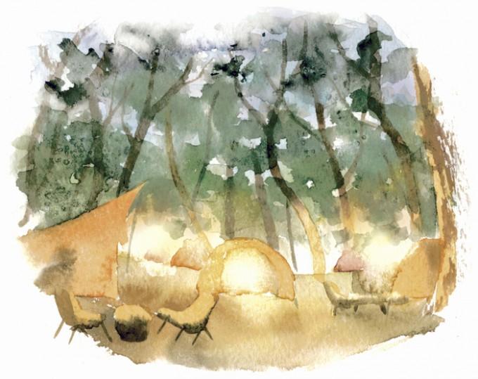 くにの松原キャンプ場祭り イラスト
