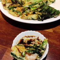 韓国家庭料理 釜山のチヂミ