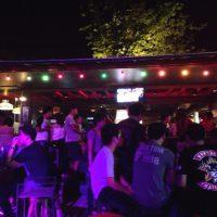 チェンマイの屋外カフェ