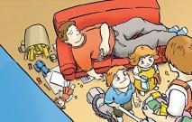 古い記事: CLEANING THE HOUSE(家の掃除)/親子同士の
