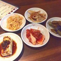 韓国家庭料理 釜山。日替わりのお通し