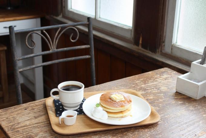 カフェとギャラリー poturiのホットケーキ
