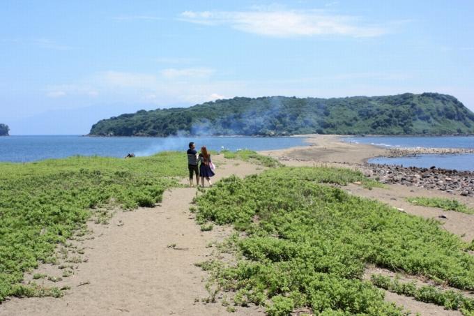 知林ケ島と砂の道「ちりりんロード」