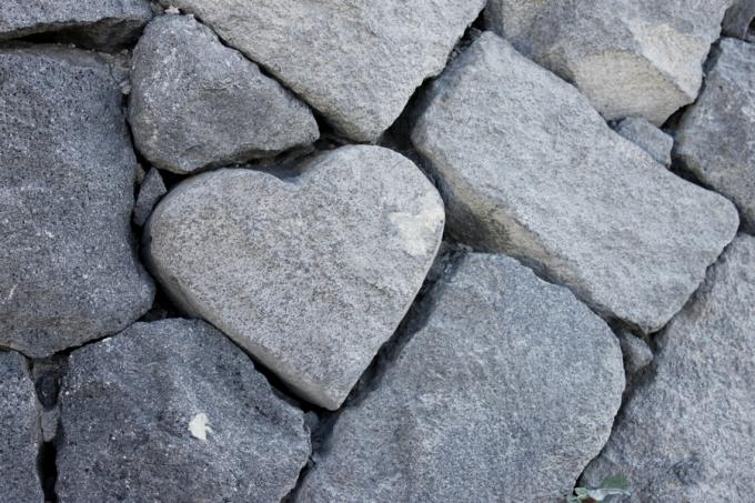 桜島・湯之平展望所のハート石