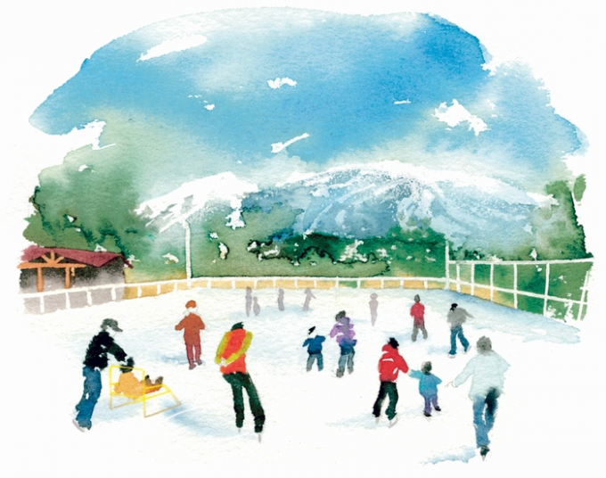 えびの高原屋外アイススケート場イラスト