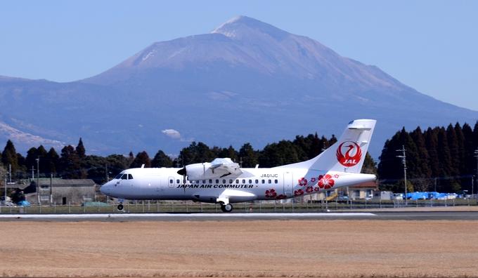 鹿児島空港へ着陸した・ATR42-600型機
