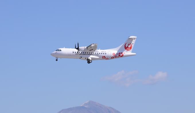着陸態勢にはいった・ATR42-600型機