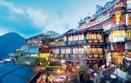 台湾・九份の夕景