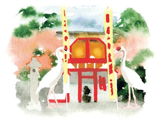 箱崎八幡神社イラスト