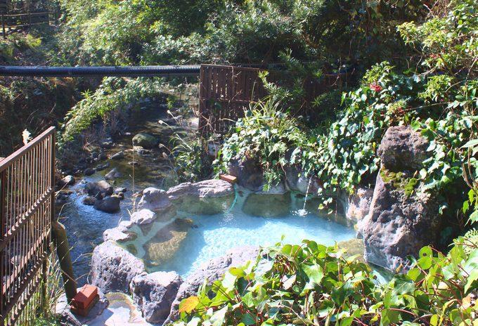 旅籠しび荘の露天風呂