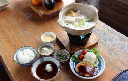 豆腐料理「のぶちゃん屋」の定食
