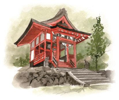 石體神社イラスト