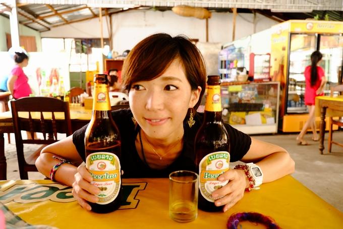 ラオスでもビール