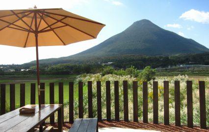 イタリア料理Piena 開聞岳を望むテラス席