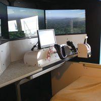 鹿児島空港ソラステージのフライトシミュレーター