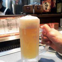 焼肉 馬力屋で生ビール