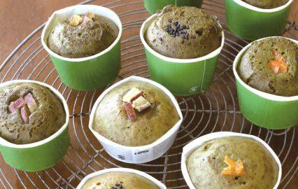 緑茶のふくれ菓子