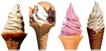 いちご・ボンタン・しょうゆ・だしを使ったソフトクリーム