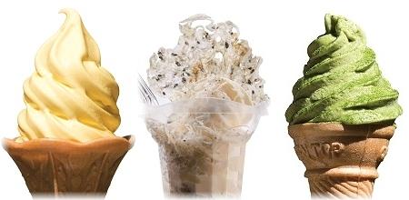 しらす・たまご・知覧の抹茶を使ったソフトクリーム