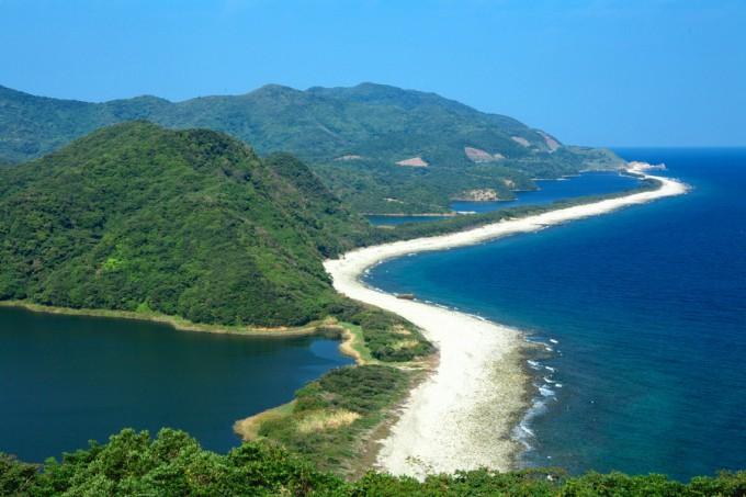 国の天然記念物 長目の浜(上甑島)