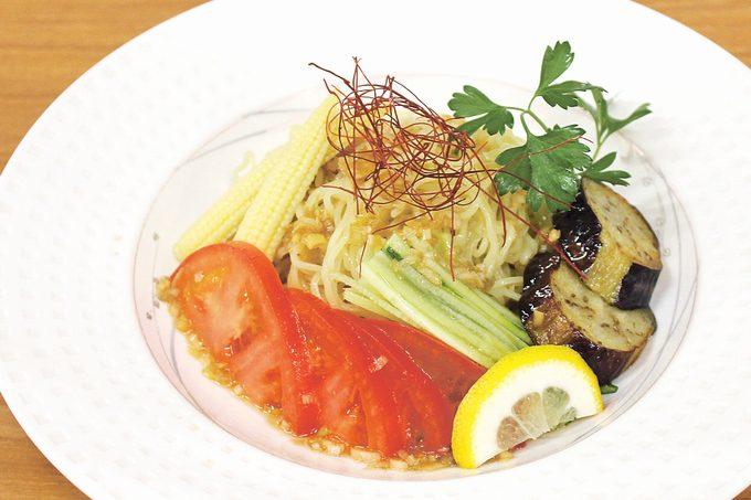 冷製黒酢坦々(たんたん)麺