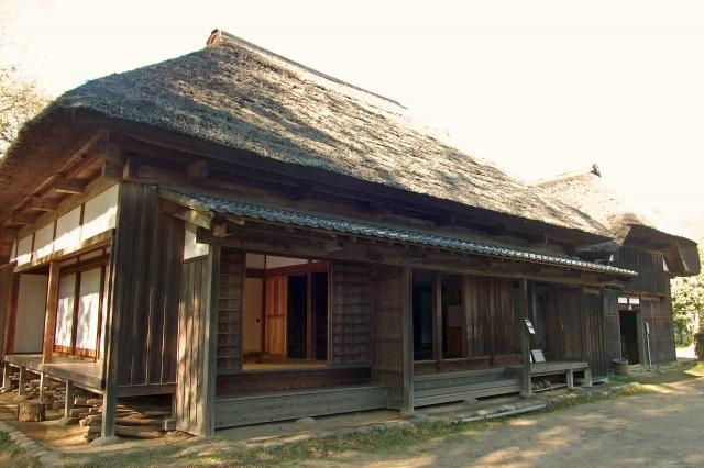 日本の伝統的家屋イメージ