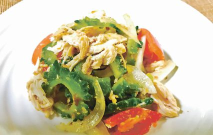 古い記事: かごしま旬野菜レシピ | ゴーヤーのさっぱりサラダ