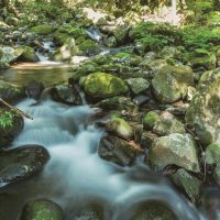寒川水源亭のすぐ横を流れる寒川川