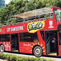 上海のオープントップバス
