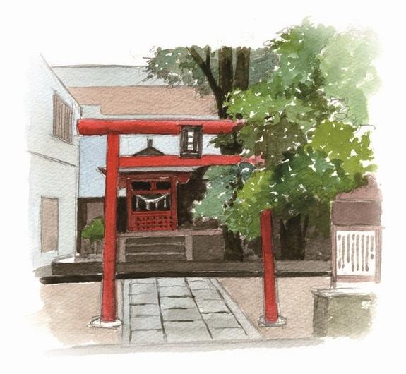 千石天神社イラスト