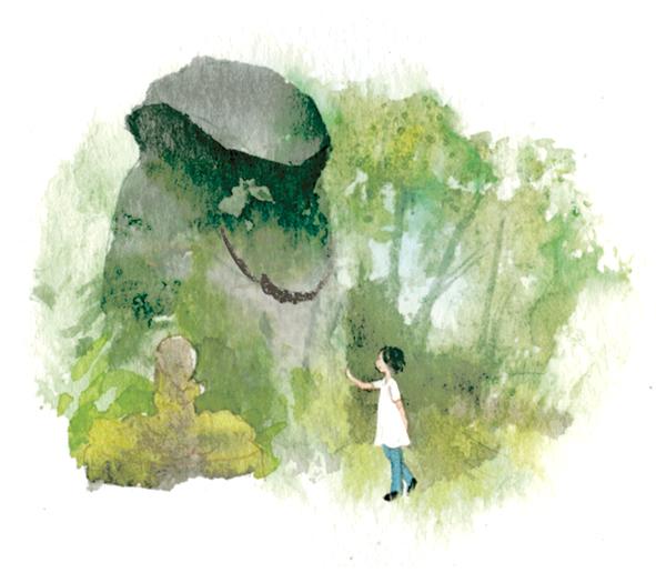 子授け岩イラスト