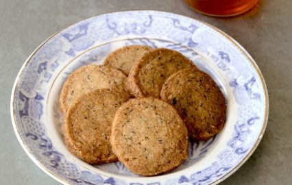 ビワの茶葉のアイスボックスクッキー