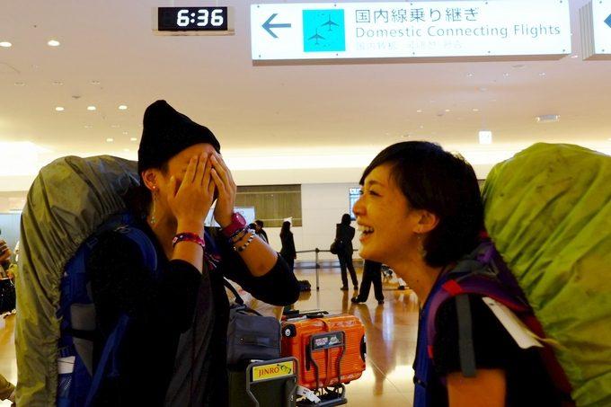 ついに日本へ到着…