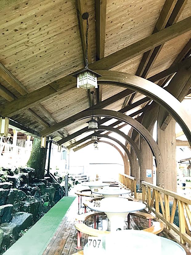 唐船峡 屋根部分のアーチ